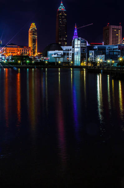 Photograph - Cleveland Nightly Reflections by Stewart Helberg