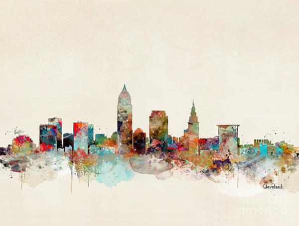 Ohio Wall Art - Painting - Cleveland Ohio by Bri Buckley