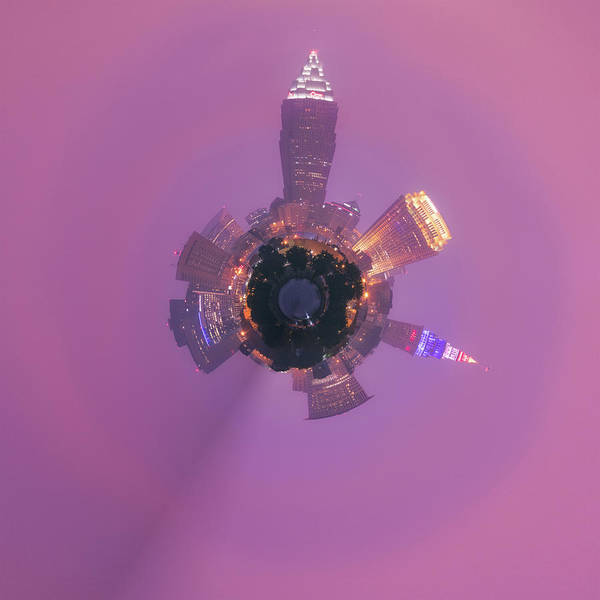 Brown County Photograph - Cleveland Ohio Little Planet  by Emmanuel Panagiotakis