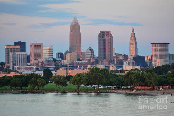 Photograph - Fx24u-676 Cleveland Ohio Skyline by Ohio Stock Photography