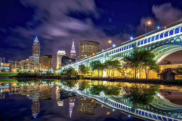 Brown County Photograph - Cleveland Skyline 4 by Emmanuel Panagiotakis