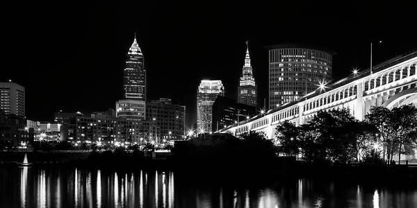 Water Tower Photograph - Cleveland Skyline by Dale Kincaid