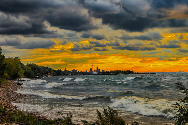 Photograph - Cleveland Waves by Richard Kopchock