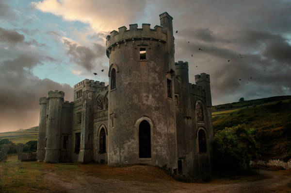 Historic Wall Art - Photograph - Clifden Castle At The Sunset by Jaroslaw Blaminsky