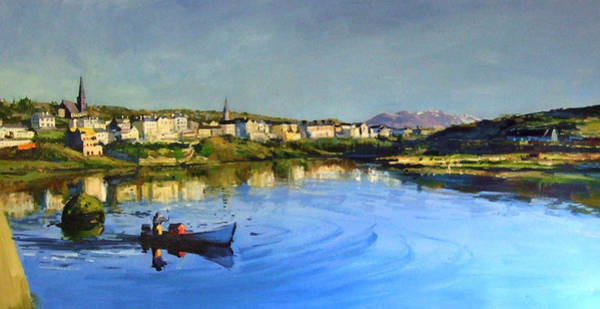 Wall Art - Painting - Clifden Harbour by Conor McGuire