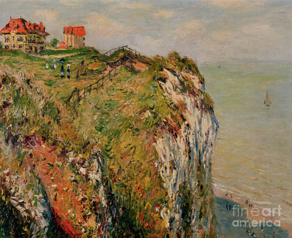 Normandy Painting - Cliff At Dieppe by Claude Monet