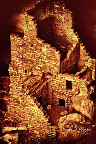 Photograph - Cliff Dwelling Ruins by Paul W Faust - Impressions of Light