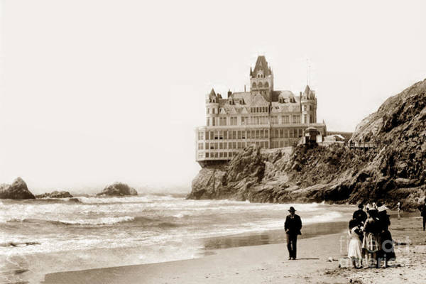 Photograph - Cliff House From Ocean Beach, San Francisco, California 1905 by California Views Archives Mr Pat Hathaway Archives