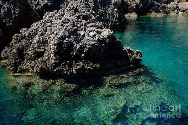 Photograph - Cliff In Clear Water Artmif.lv by Raimond Klavins