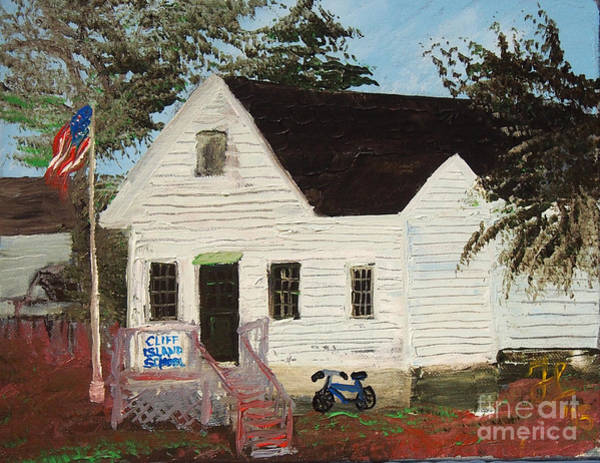 Painting - Cliff Island School by Francois Lamothe