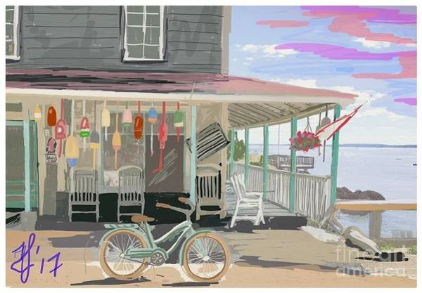 Painting - Cliff Island Store 2017 by Francois Lamothe