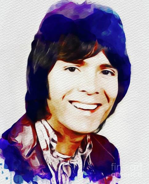 Wall Art - Painting - Cliff Richard, Music Legend by John Springfield