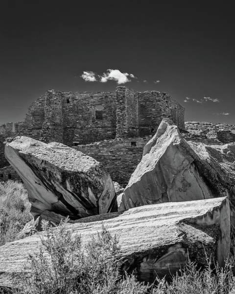 Chaco Canyon Wall Art - Photograph - Cliff Wall With Pueblo Bonito by Joseph Smith