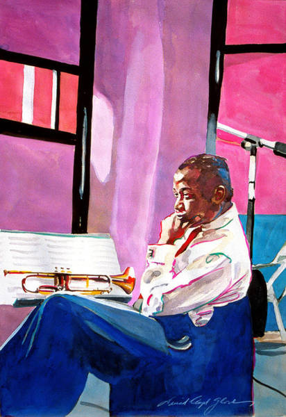 Painting - Clifford Brown Studio Recording by David Lloyd Glover