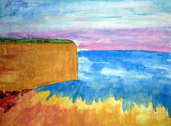Cliffs And Sea Art Print