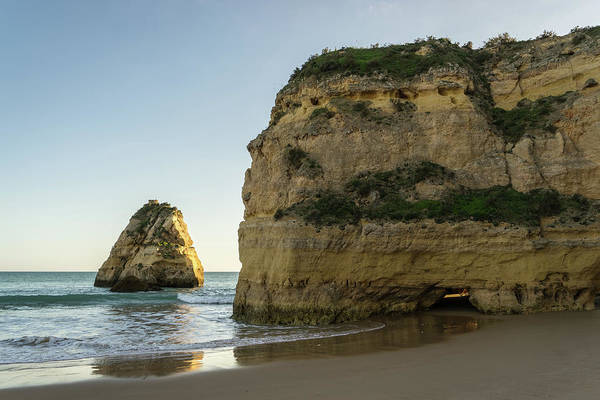 Photograph - Cliffs And Sea Stacks - The Magic Of The Algarve Coast In Portugal by Georgia Mizuleva