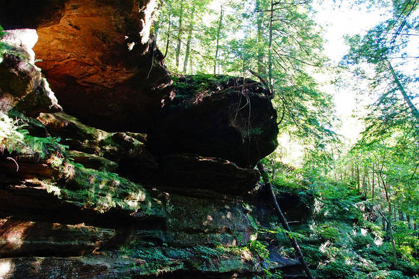 Photograph - Cliffs At Hocking Hills by Mike Murdock