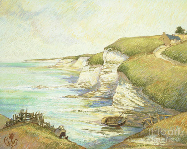 Wall Art - Pastel - Cliffs In Brittany by Claude Emile Schuffenecker