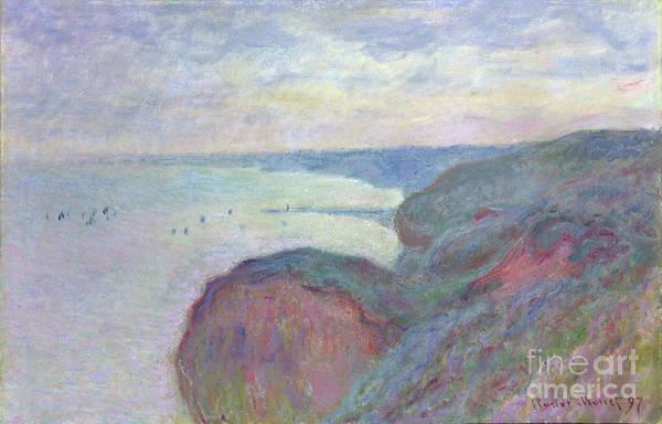 1897 Painting - Cliffs Near Dieppe, 1897 by Claude Monet