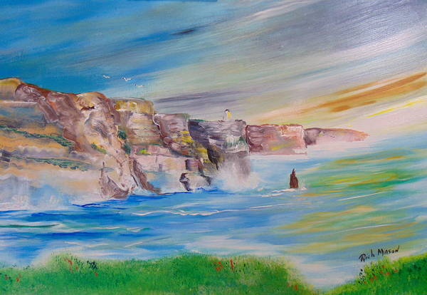 Wall Art - Painting - Cliffs Of Moher Ab by Rich Mason
