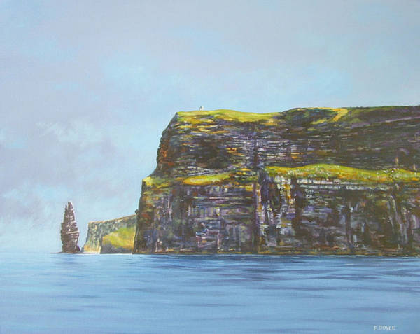 Cliffs Of Moher From The Sea Art Print by Eamon Doyle
