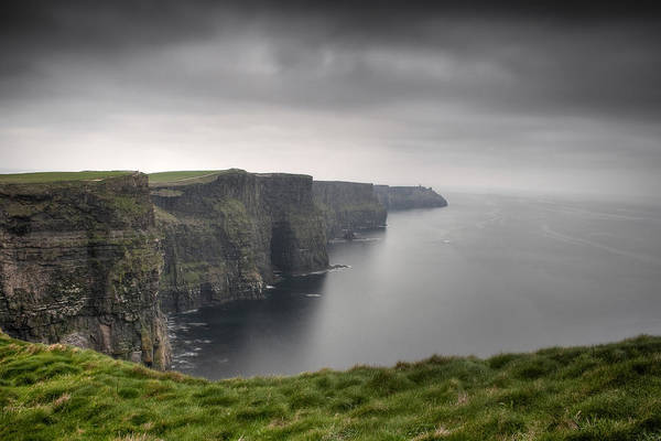 Green Grass Photograph - Cliffs Of Moher by Tim Drivas