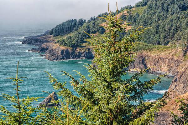 Photograph - Cliffs Of Oregon by John M Bailey
