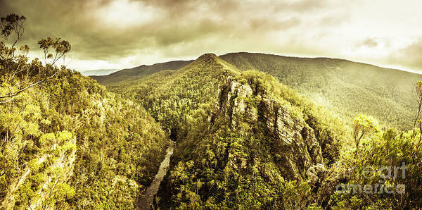 Rain Forest Photograph - Cliffs, Steams And Valleys by Jorgo Photography - Wall Art Gallery