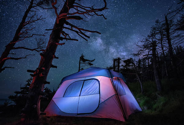 Photograph - Cliffside Camping by Tracy Munson