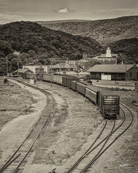Depot Photograph - Clifton Forge Railroad Yard by Jurgen Lorenzen
