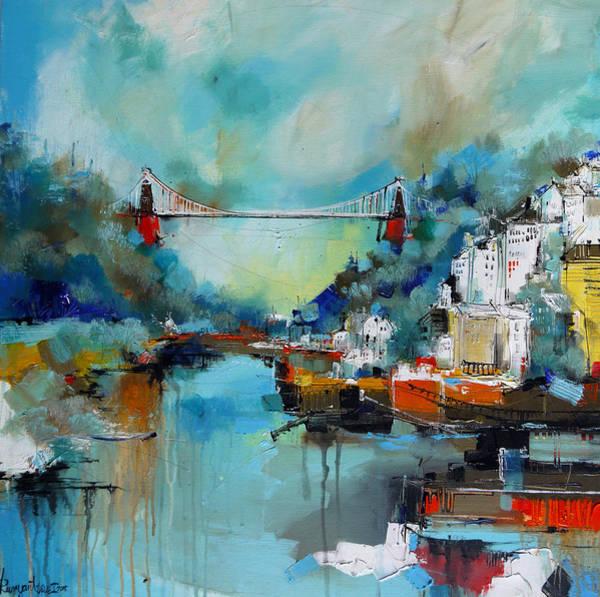 Bristol Wall Art - Painting - Clifton Suspension Bridge Bristol England by Irina Rumyantseva