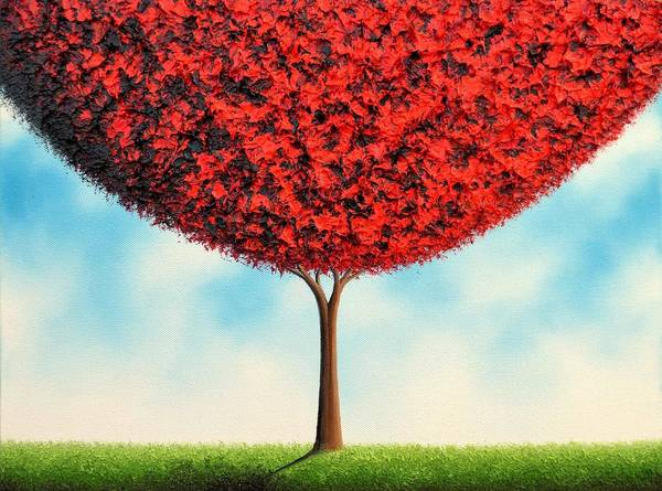 Wall Art - Painting - Climb The Sky by Rachel Bingaman