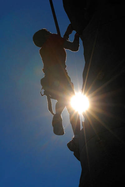 Photograph - Climber Silhouette by Steve Somerville
