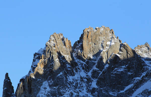 Mountain Climbing Photograph - Climbers Sunlit Challenge by Pat Speirs