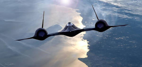 United States Air Force Digital Art - Climbing Habu by Peter Chilelli