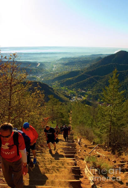 Photograph - Climbing Manitou Incline And Barr Trail by Steve Krull