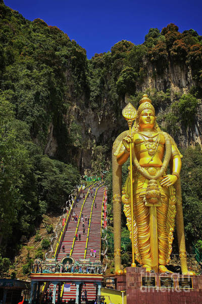 Photograph - Climbing The Batu Caves In Gombak, Selangor, Malaysia by Sam Antonio Photography