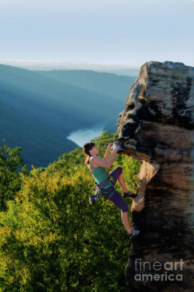 Photograph - Climbing The Rock by Dan Friend