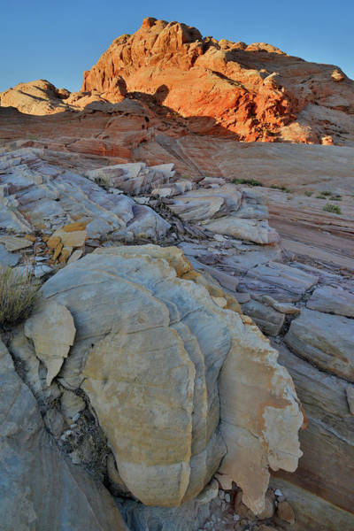 Photograph - Climbing To Greet The Sun In Wash 3 Of Valley Of Fire by Ray Mathis