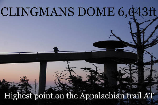 Wall Art - Photograph - Clingmans Dome At Poster by David Lee Thompson