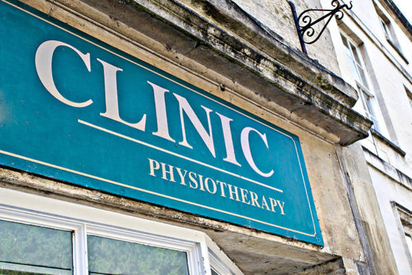 Therapist Photograph - Clinic Sign by Tom Gowanlock