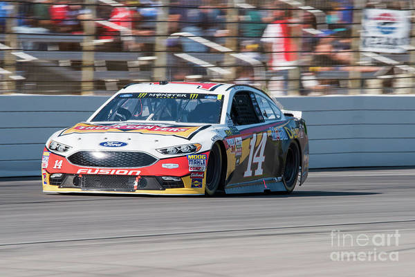 Photograph - Clint Bowyer Running At Texas Motor Speedway by Paul Quinn