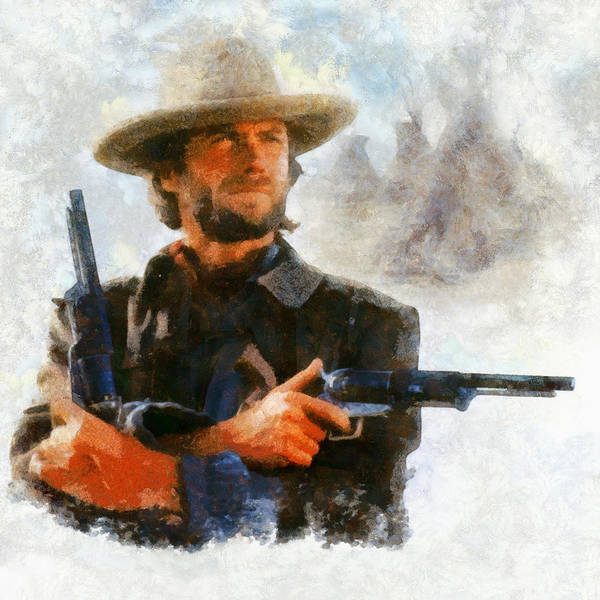 Digital Art - Clint by Caito Junqueira