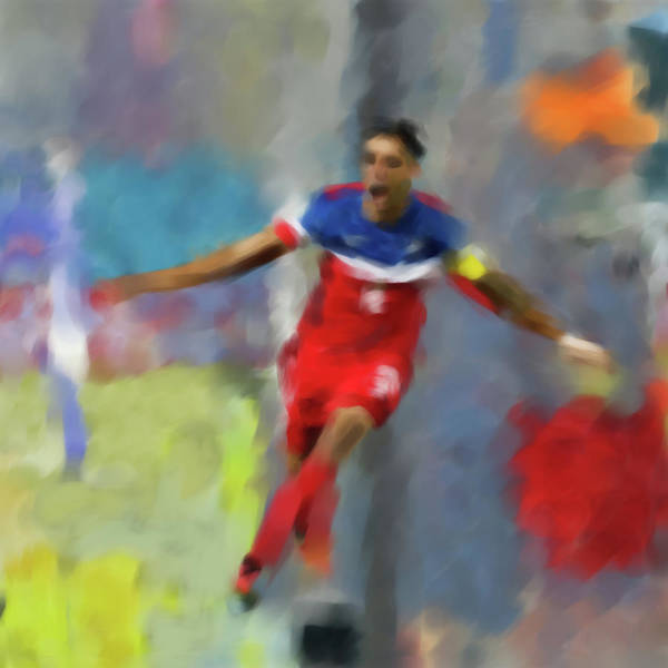 Wall Art - Painting - Clint Dempsey 546 1 by Mawra Tahreem