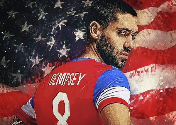 Digital Art - Clint Dempsey by Zapista Zapista