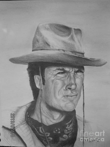 Clint Eastwood Drawing - Clint Eastwood by Angie Sellars