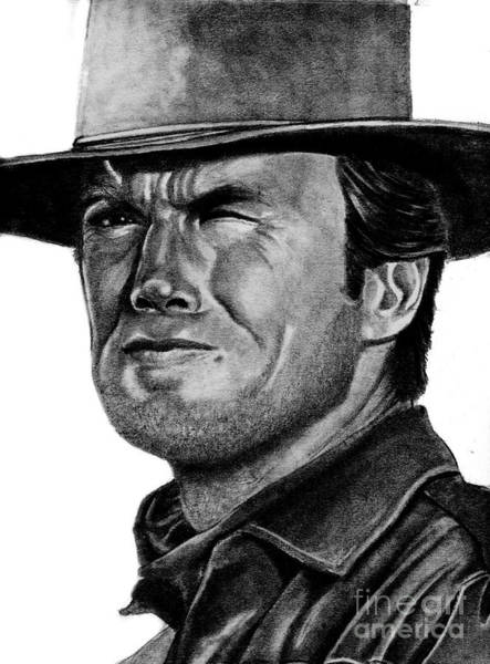 Drawing - Clint Eastwood by Bill Richards