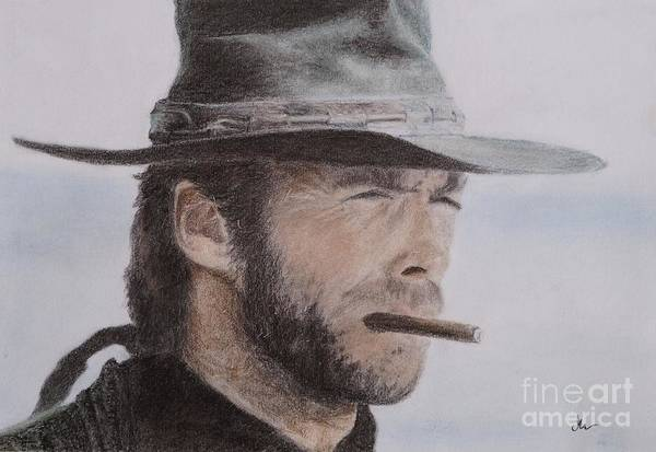 Clint Eastwood Drawing - Clint Eastwood Drawing by Timea Mazug