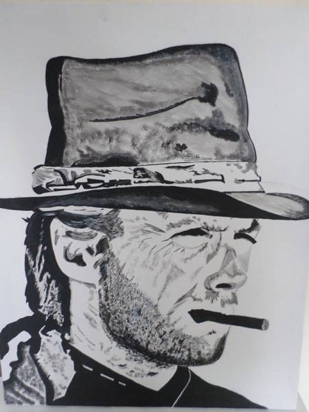 Nixo Clint Eastwood Painting By Nicholas Nixo: The Good The Bad And The Ugly Paintings