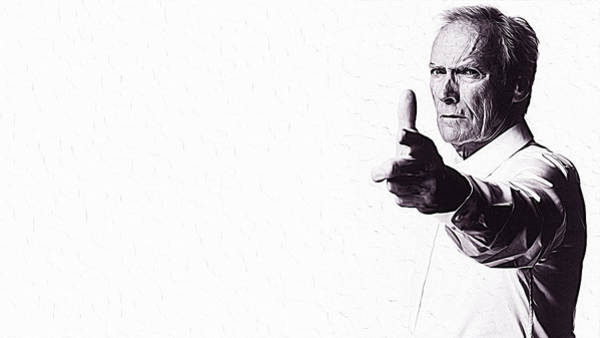 Blondie Digital Art - Clint Eastwood by Queso Espinosa